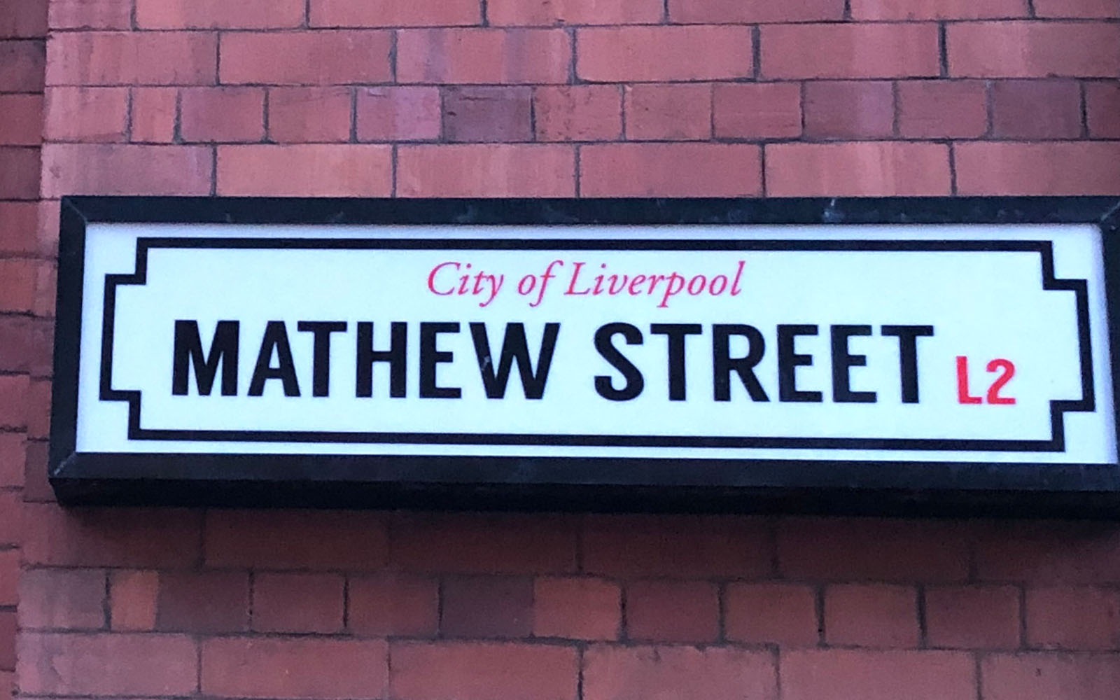 Mathew street, dove si trova il Cavern Club.