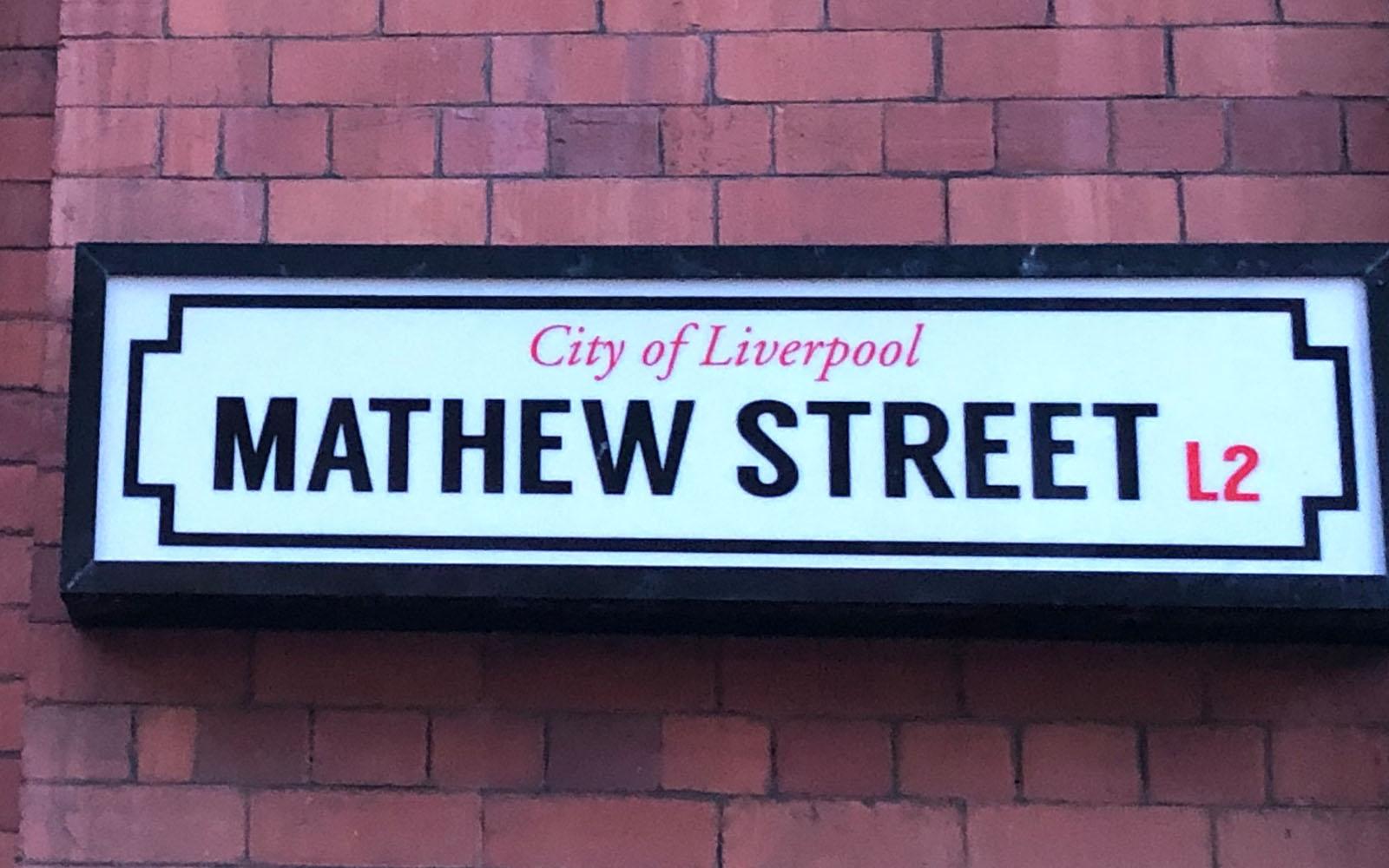 Mathew street, dove si trova il Cavern Club.