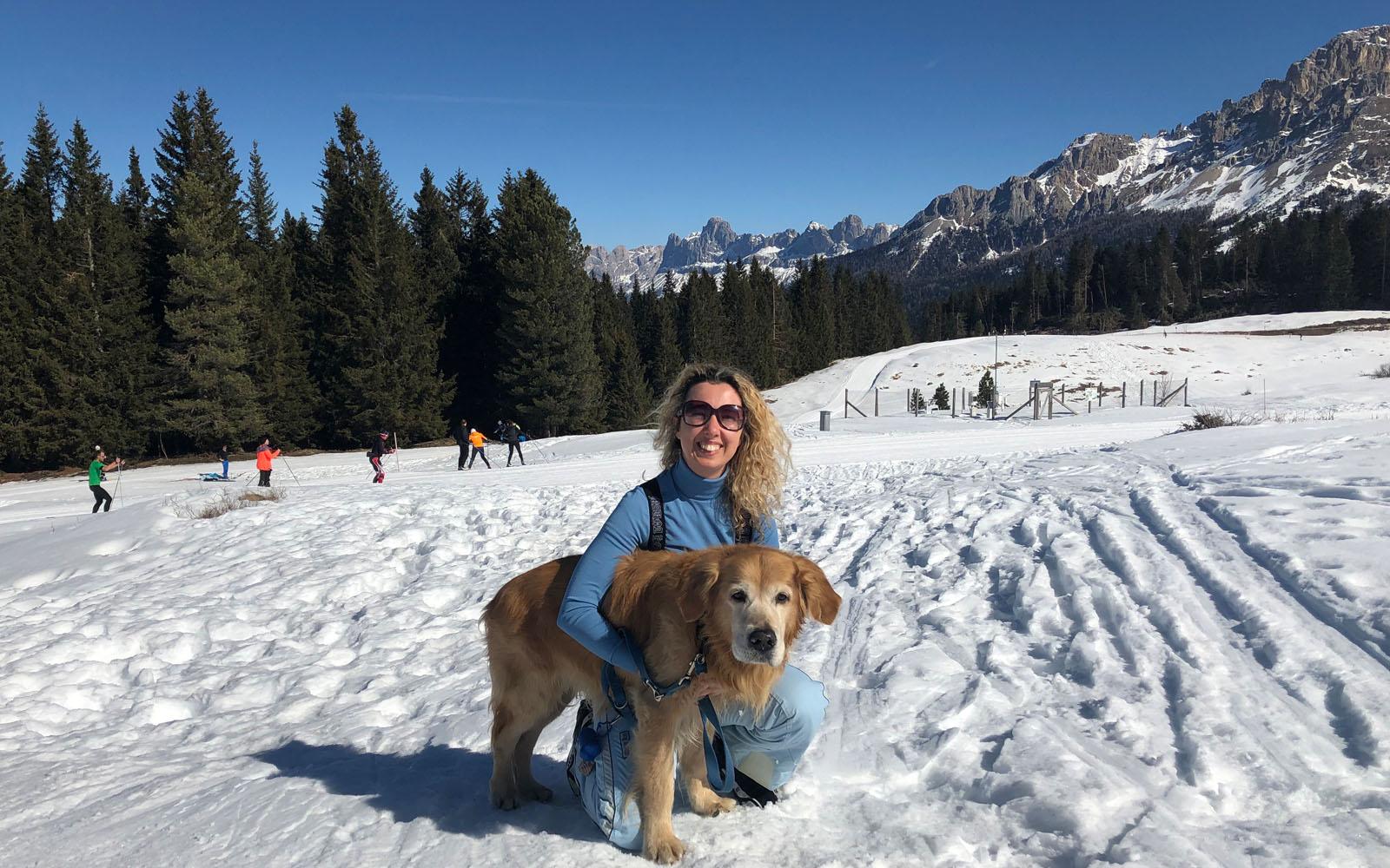 Sulla neve, con il mio Golden Felakuti.
