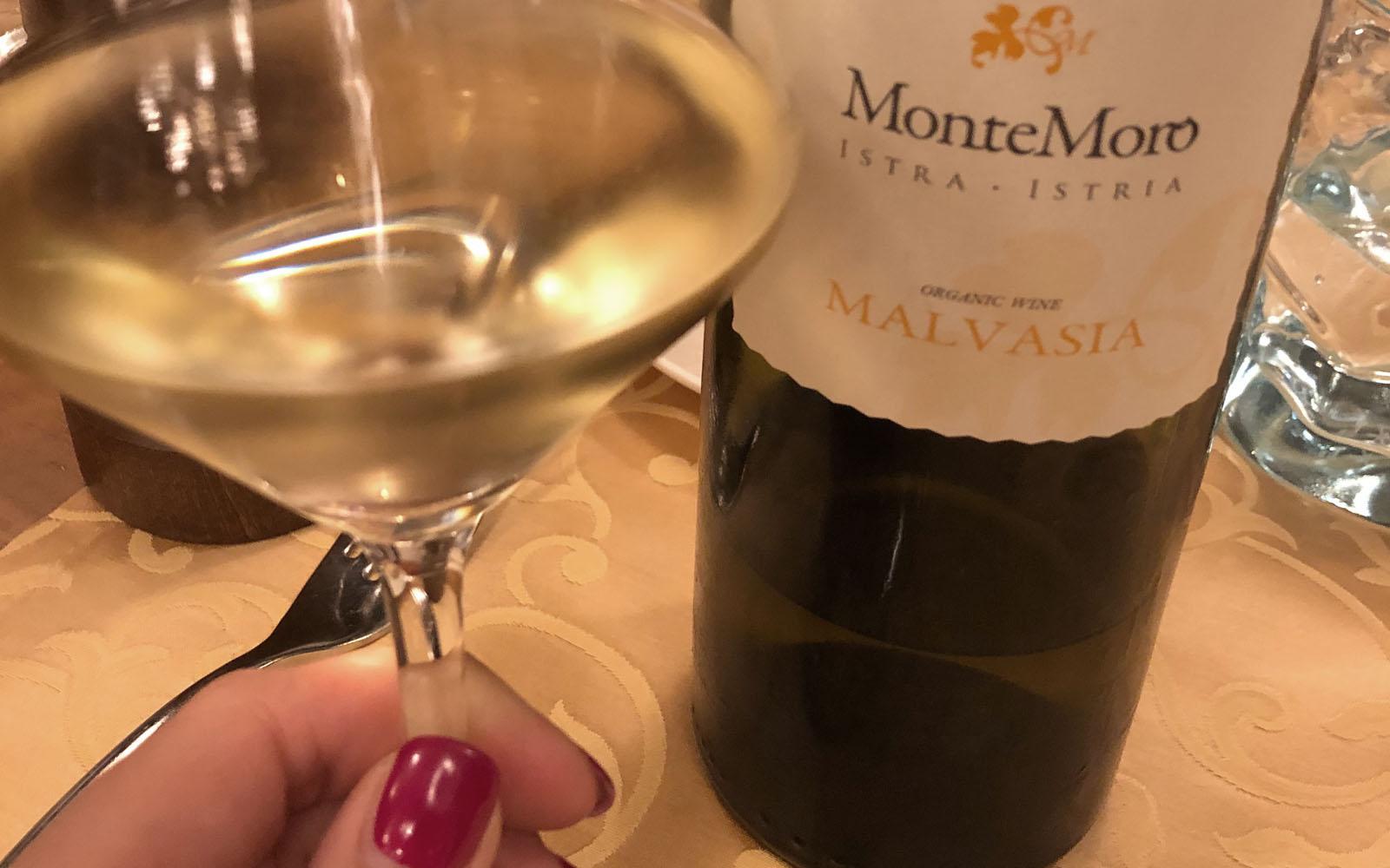 Una delle bottiglie degustate di Malvasia slovena.