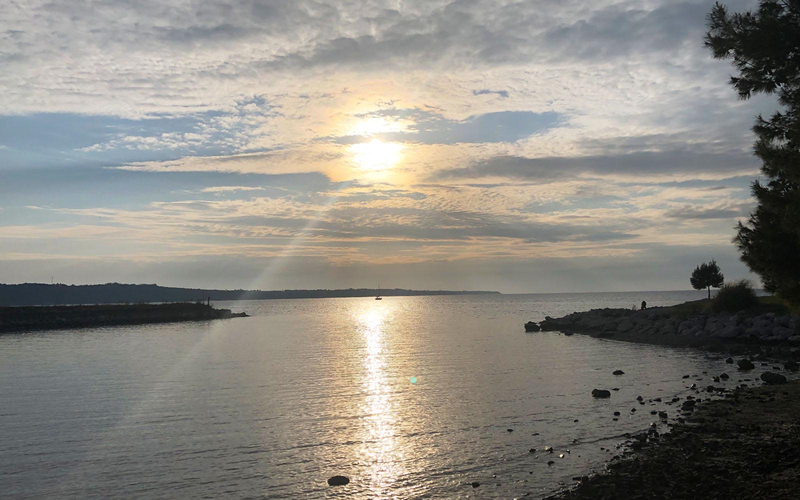 Portorose al tramonto.