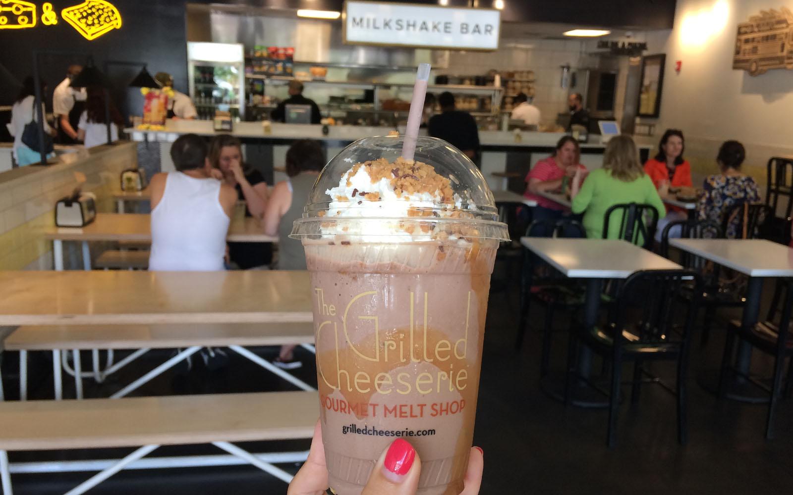 Il milkshake ordinato da The Grilled Cheeserie, a Nashville.
