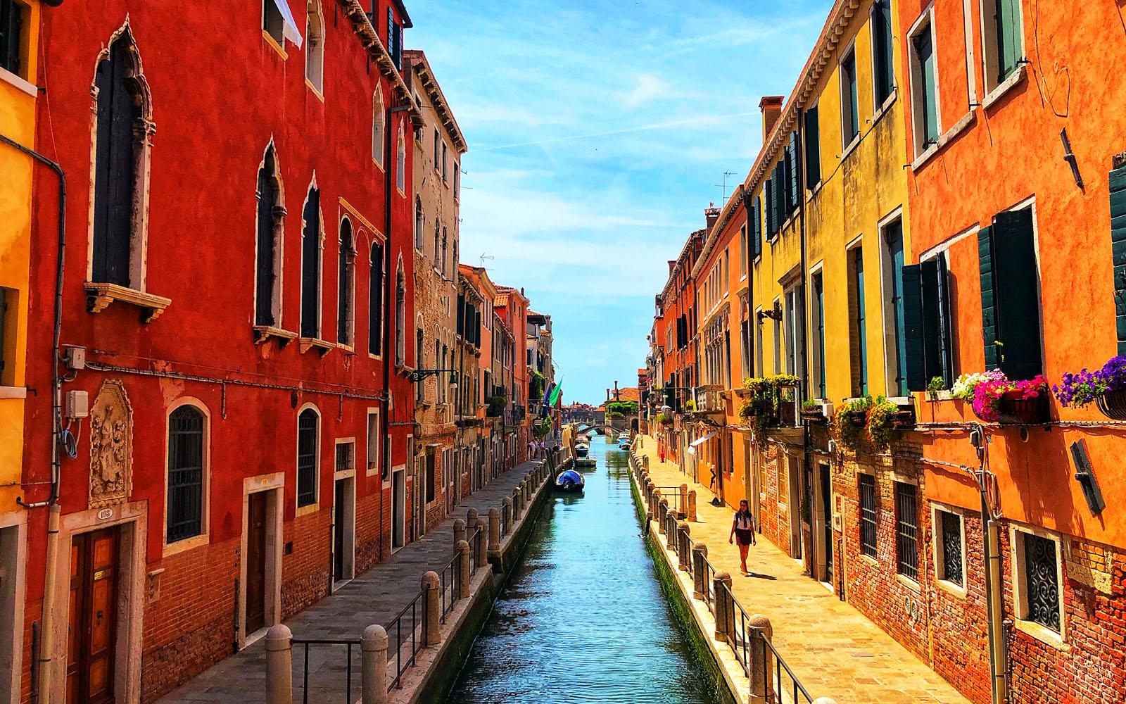 Il sestiere Dorsoduro di Venezia.