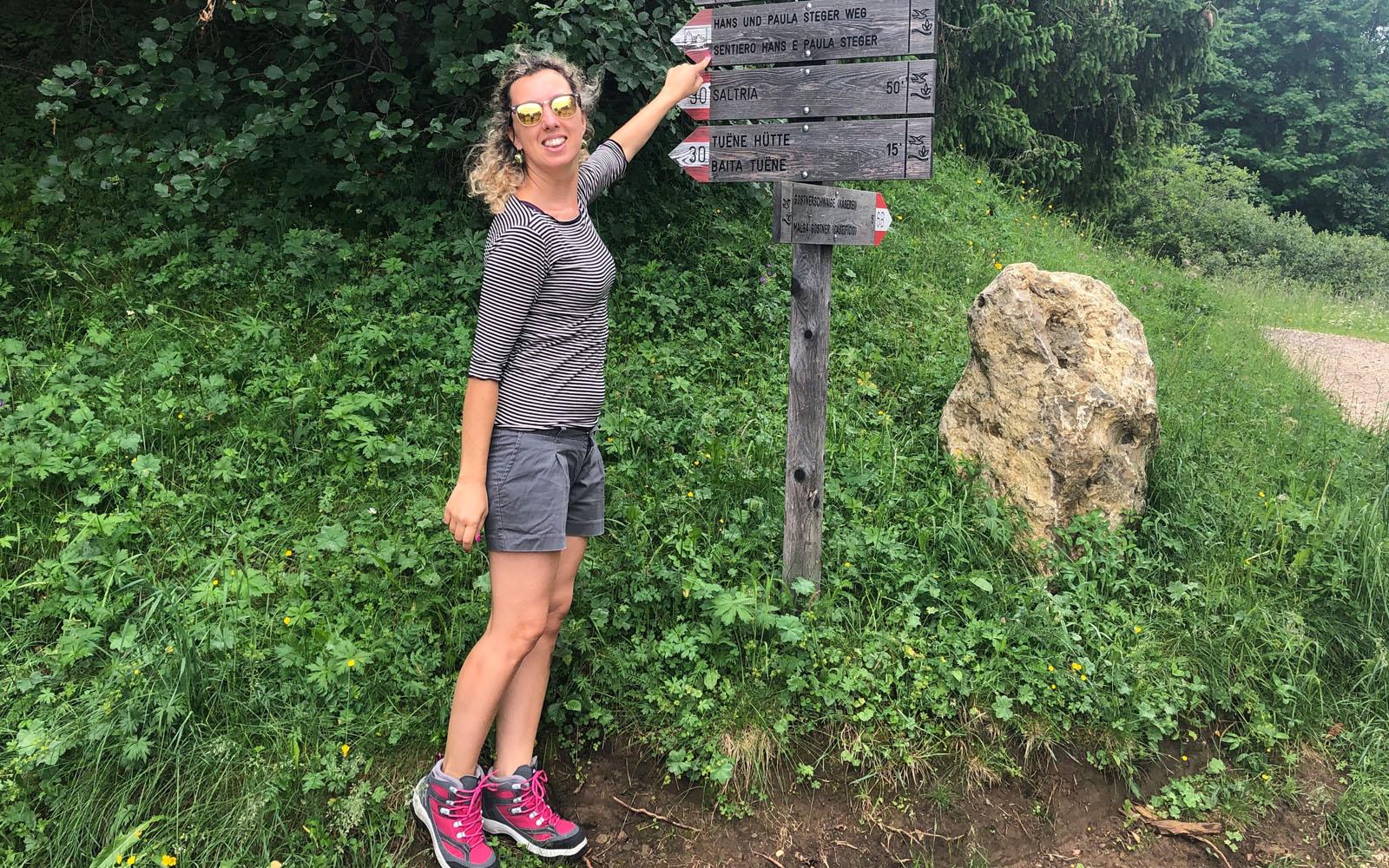 Sul sentiero di Hans e Paula Steger, all'Alpe di Siusi.