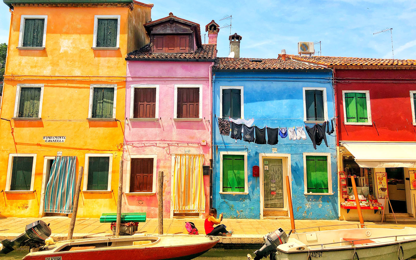 Case colorate a Burano.
