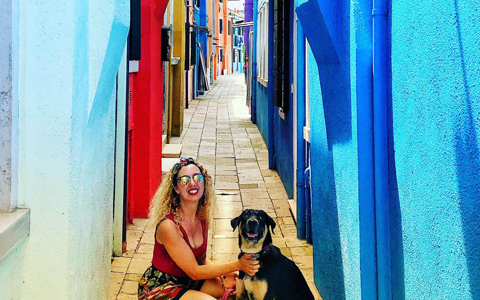 A Burano con la mia cagnolina Pastis.