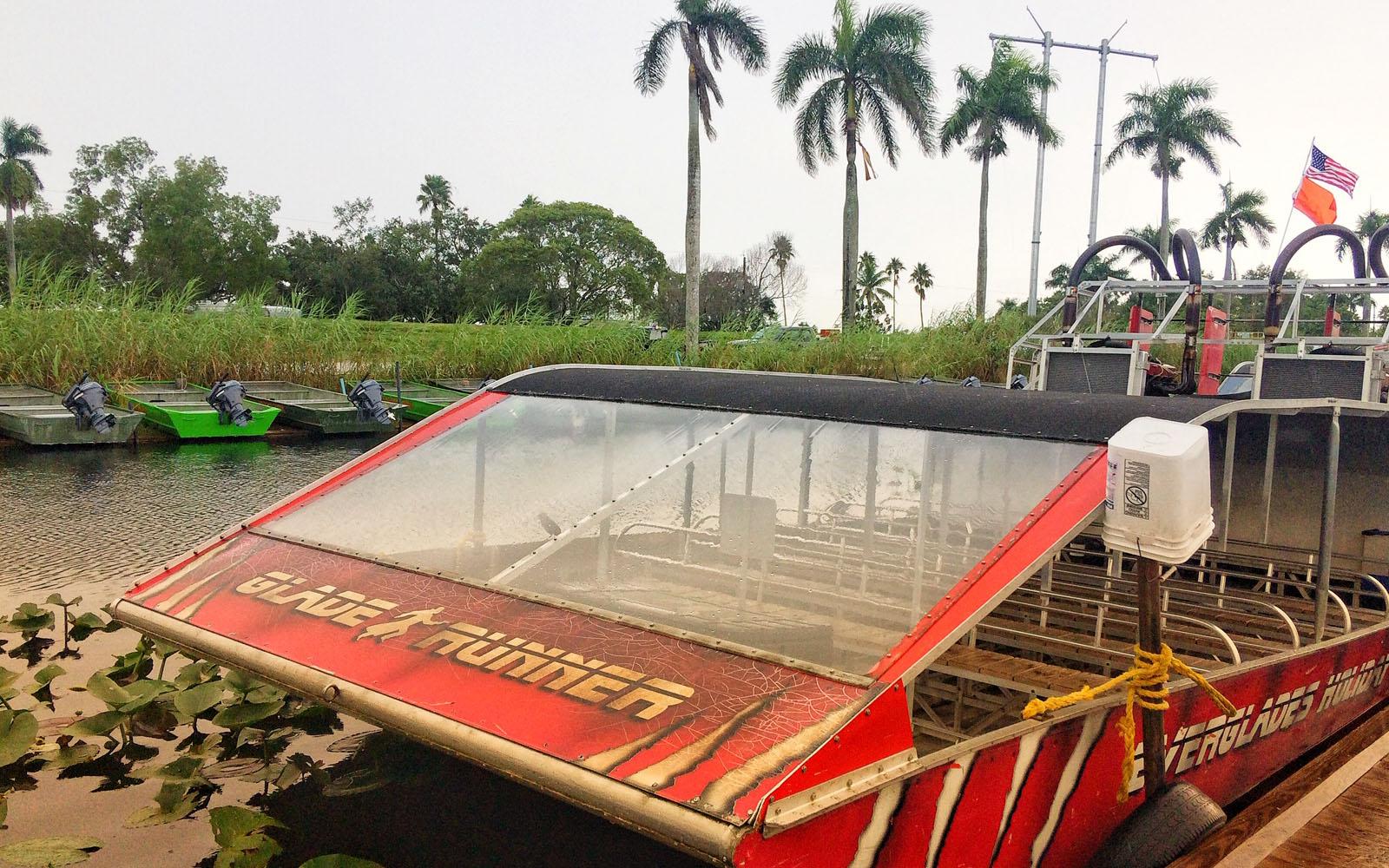 L'airboat a bordo del quale ho scoperto le Everglades.
