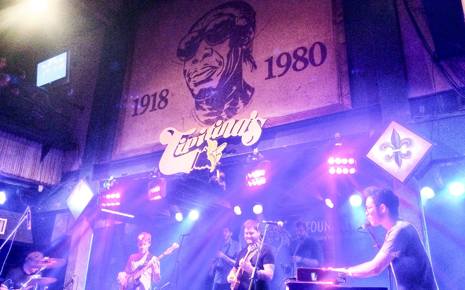 Il leggendario palco del Tipitina's a New Orleans.