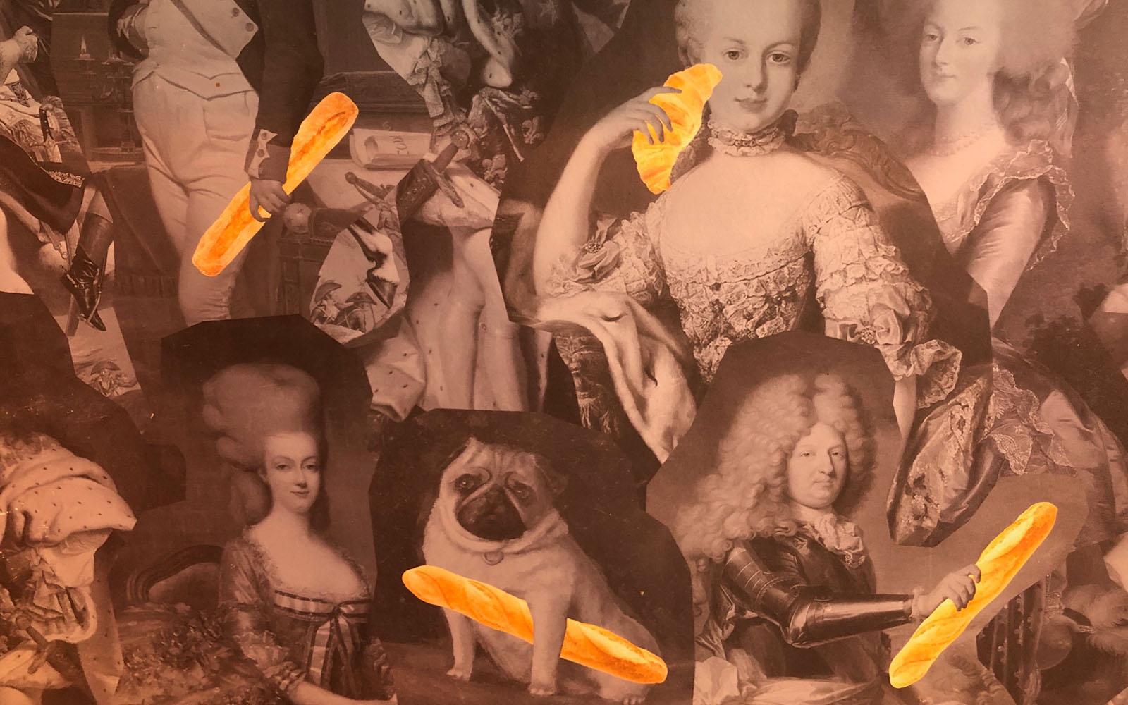La divertente carta da parati che ricopre le pareti interne di Égalité Milano.