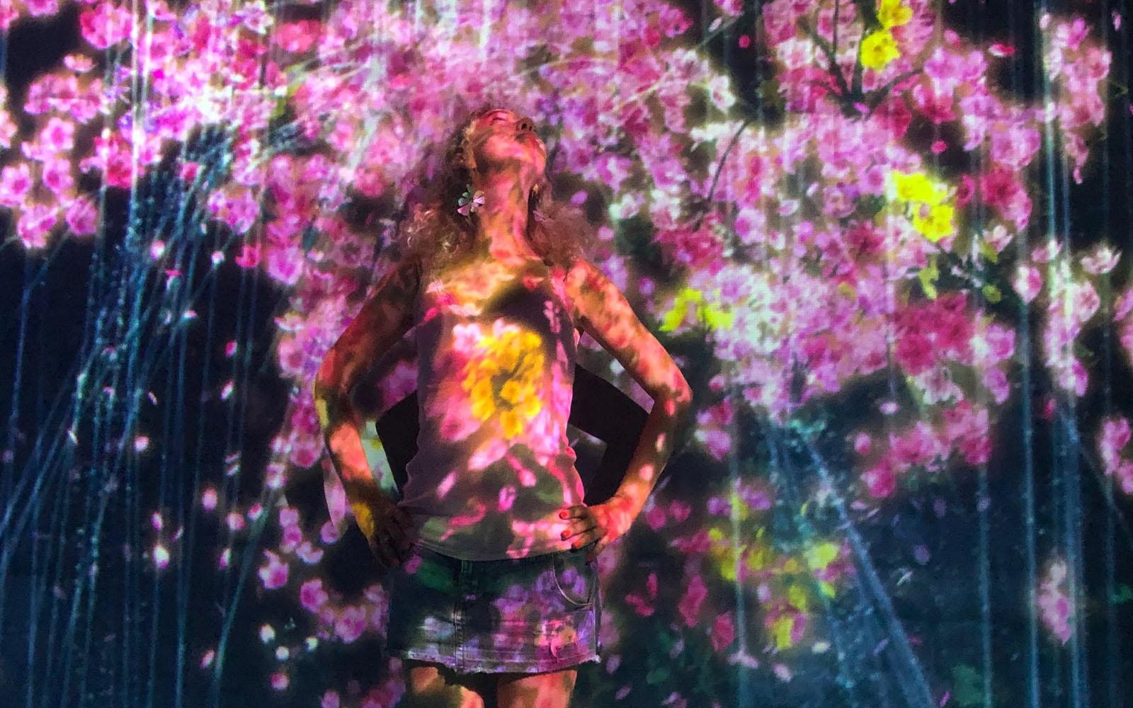 Il Il Mori Digital Art Museum nella baia di Tokyo.