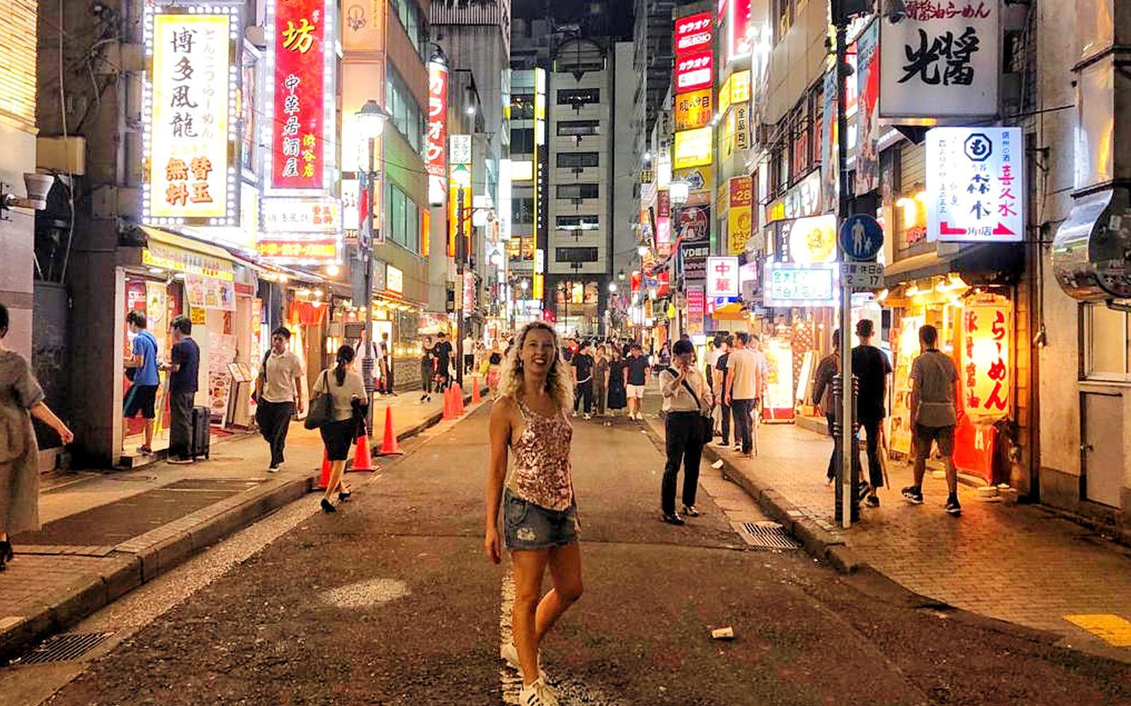 Per le strade di Tokyo.