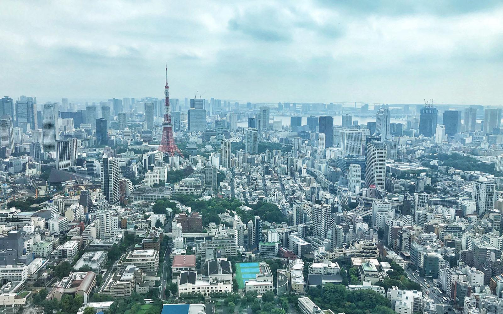 Lo skyline di Tokyo dalla Mori Tower.