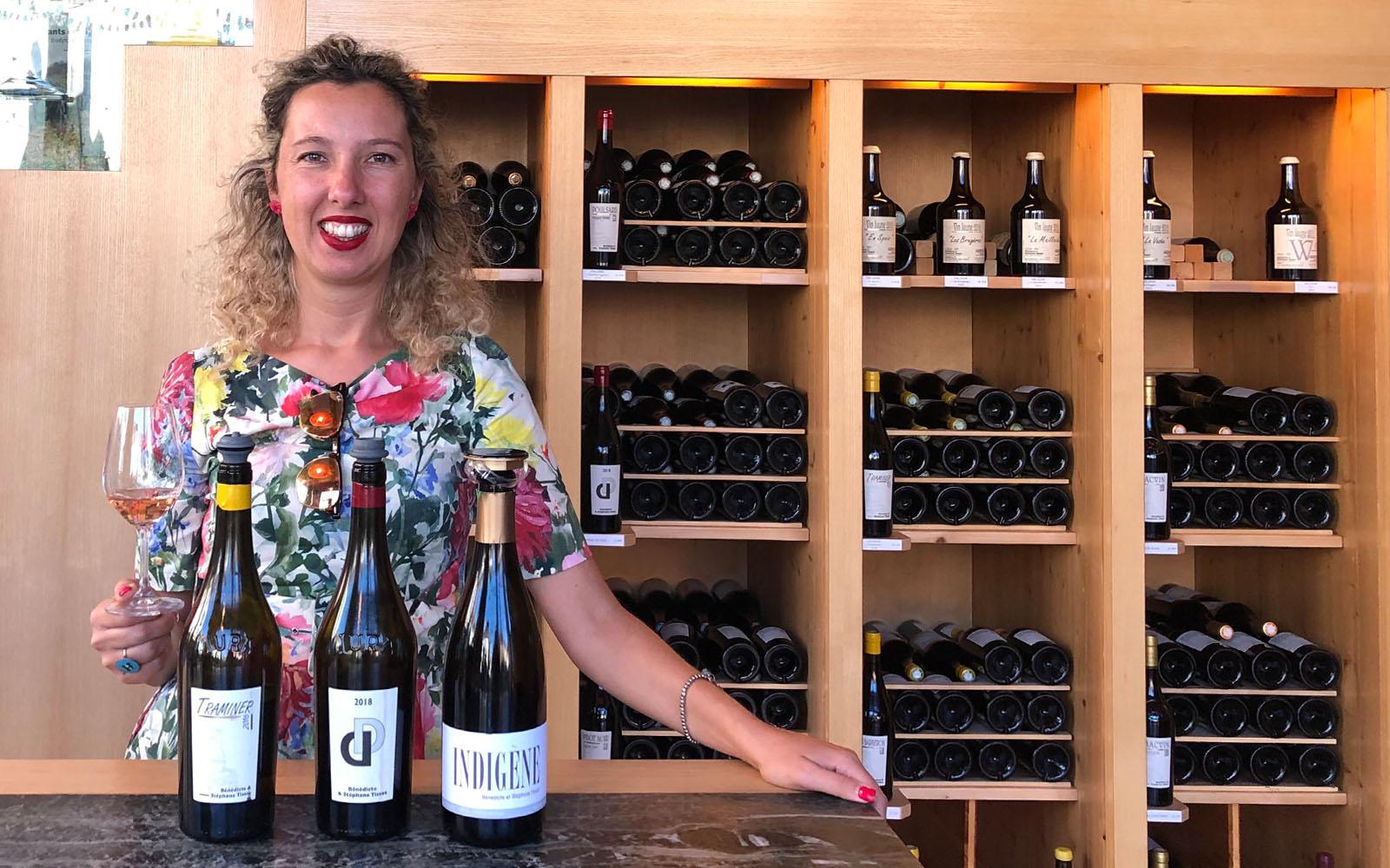 Durante una degustazione di vini del Jura.