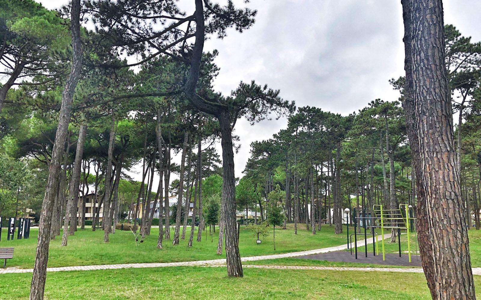 Il Parco Hemingway di Lignano Sabbiadoro.