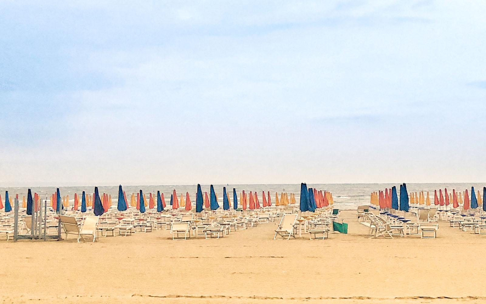 La spiaggia di Lignano Sabbiadoro.