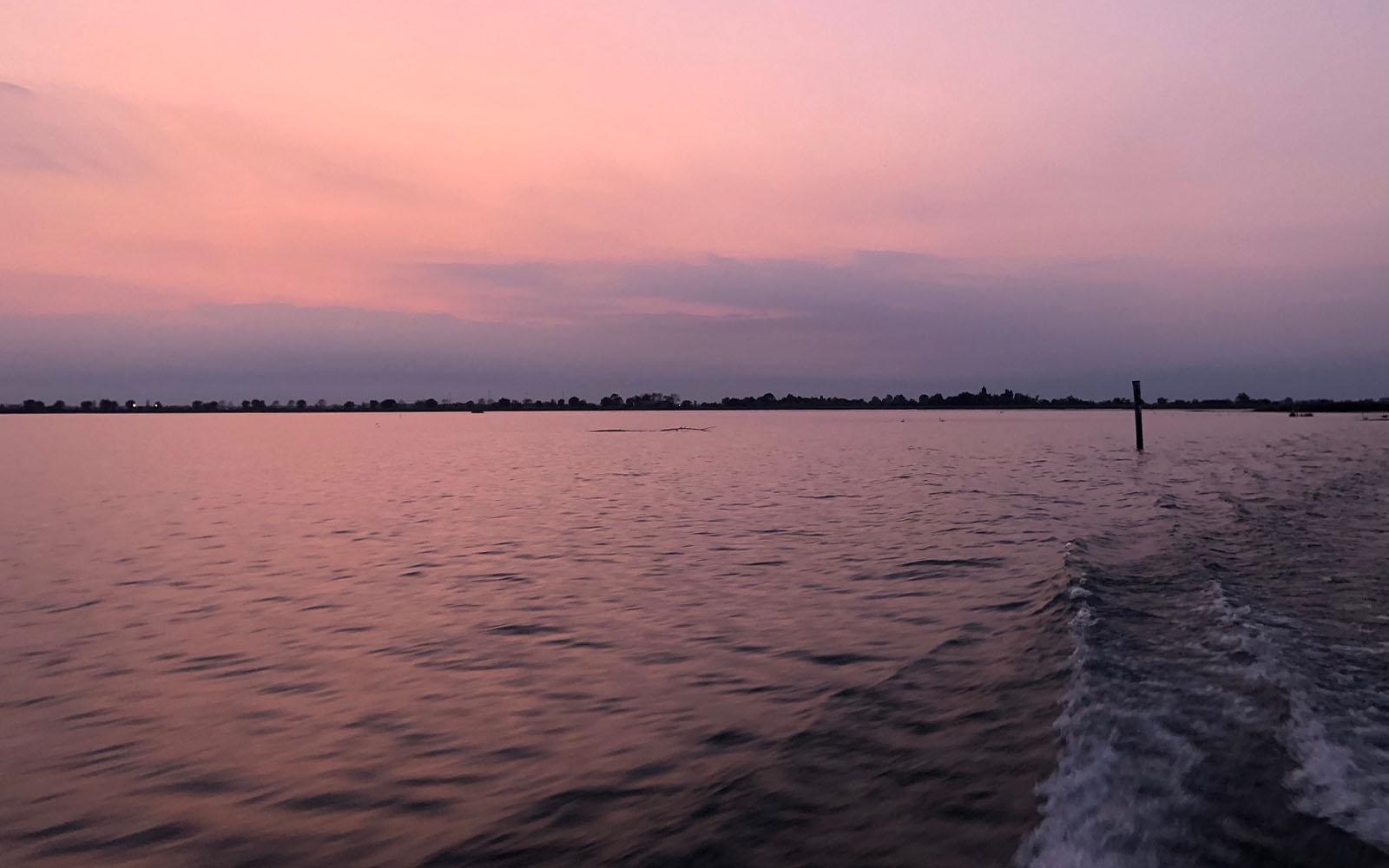 La laguna al tramonto.