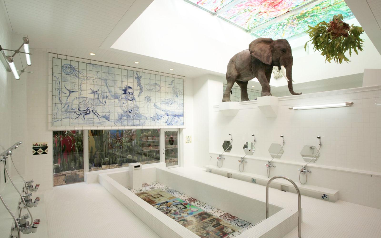 Il bagno termale 'artistico' Bath I Love Yu di Naoshima.