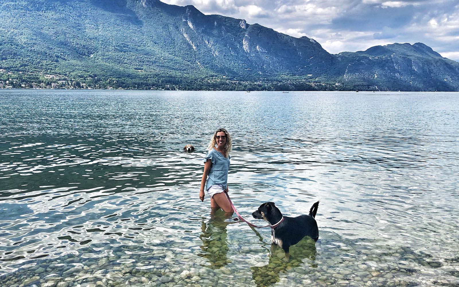 Al Lac du Bourget con i miei cani, una graziosa gita a pochi chilometri da Chambéry. © oltreilbalcone