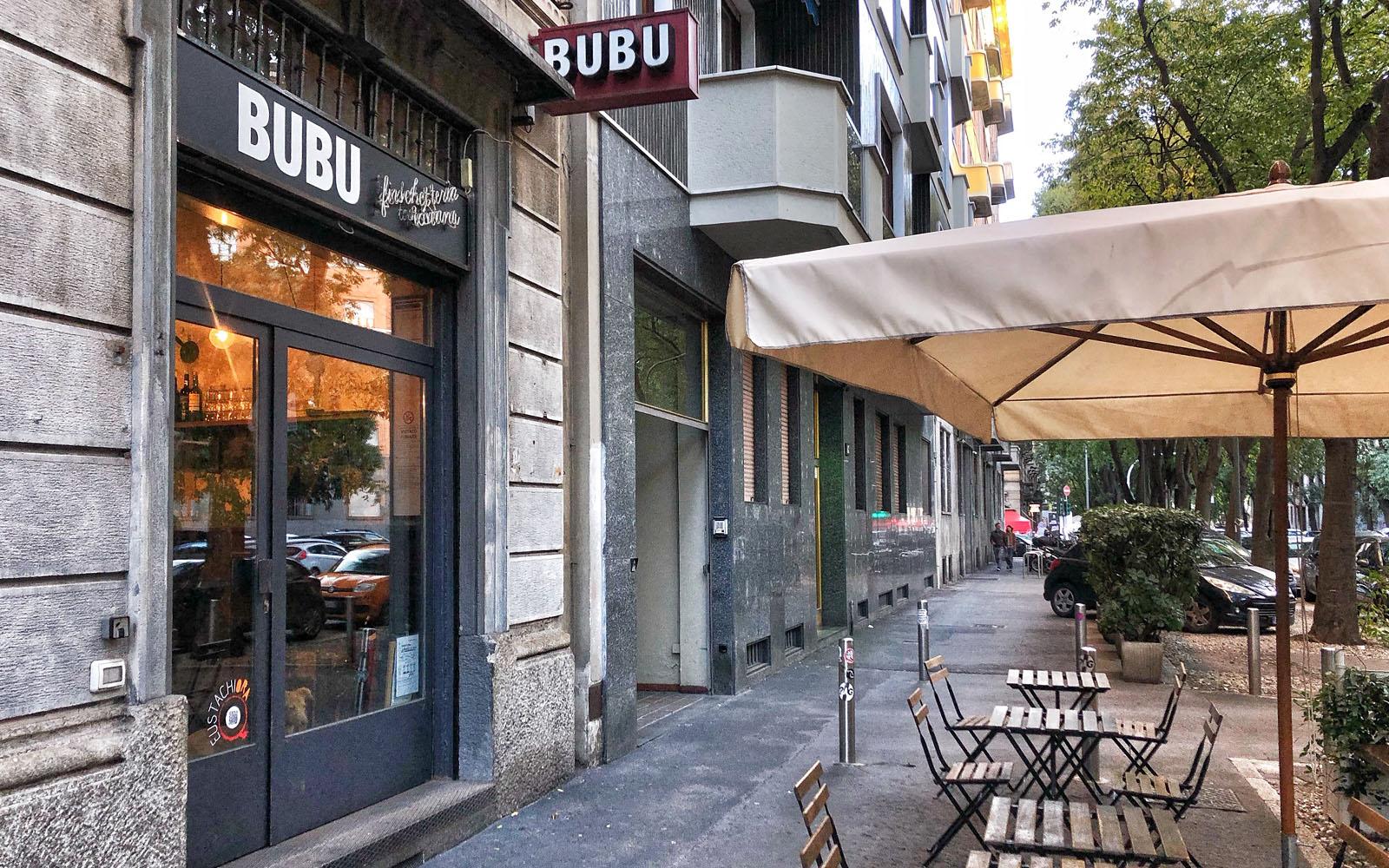 Da Bubu in via Eustachi a Milano. © oltreilbalcone