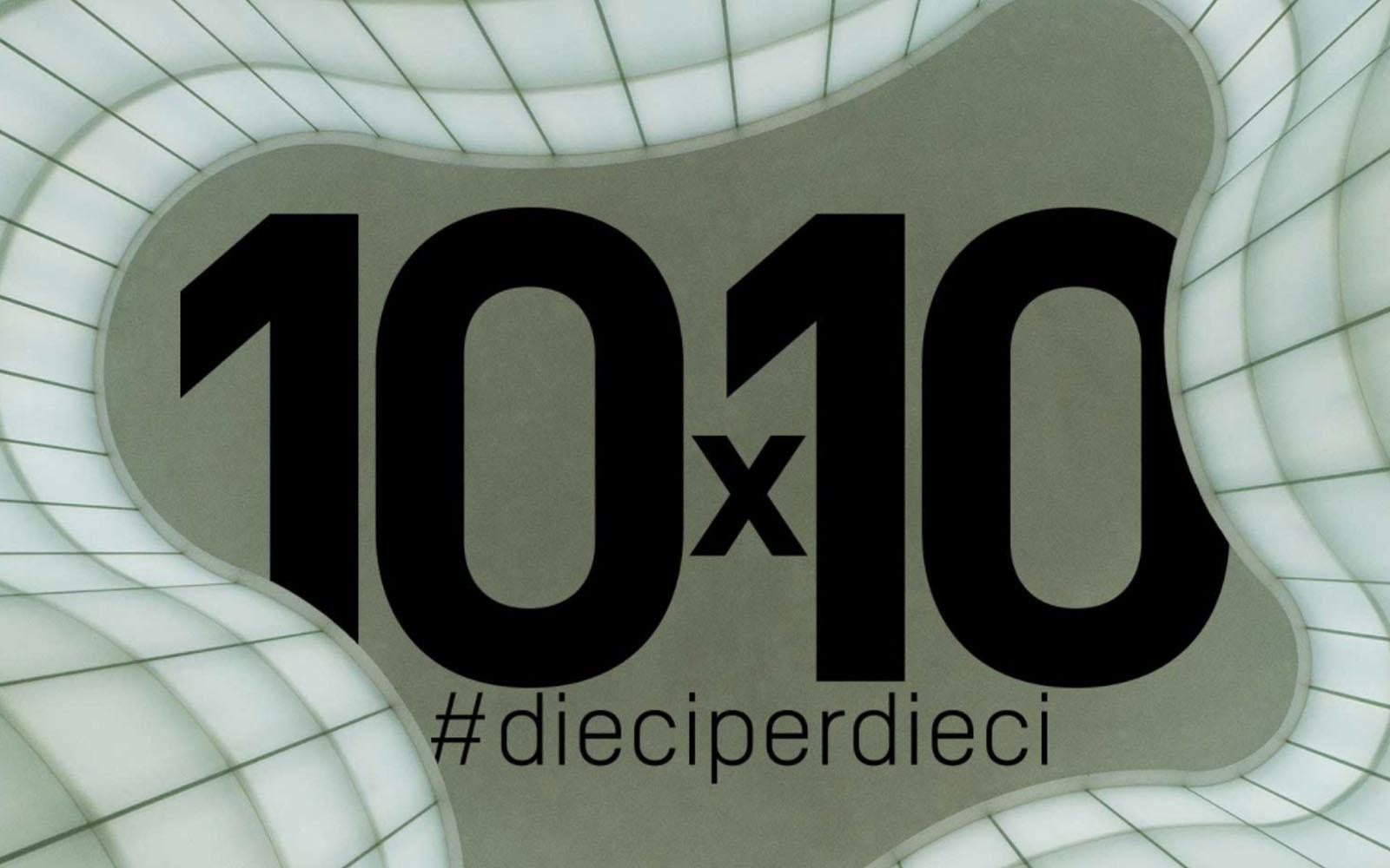 La locandina del progetto '10 x 10'. © Mudec Milano