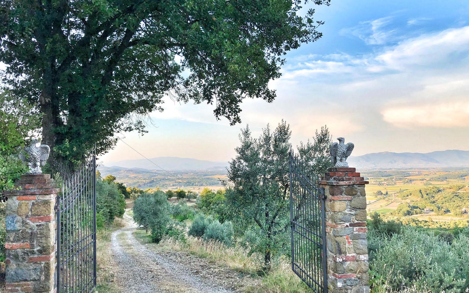 Su una collina di Monte San Savina, all'ingresso della casa di amici. © oltreilbalcone