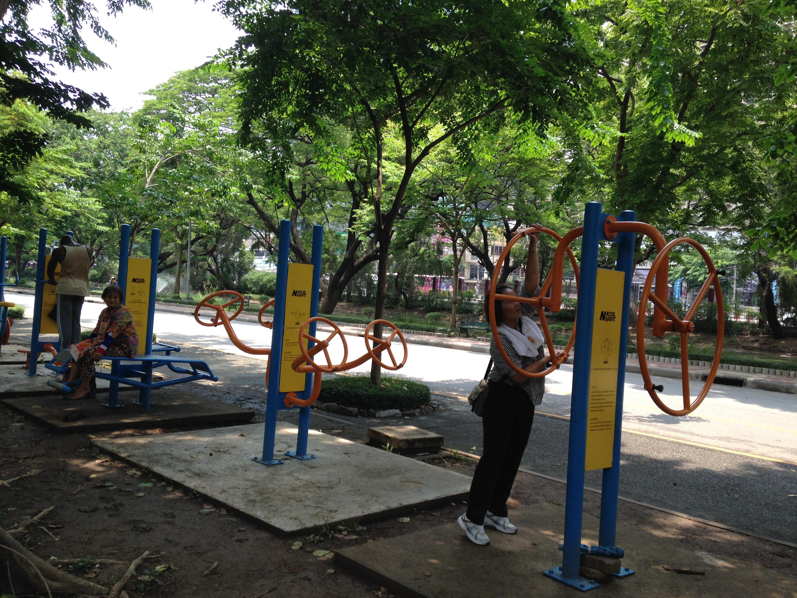 Il percorso vita del Lumpini Park