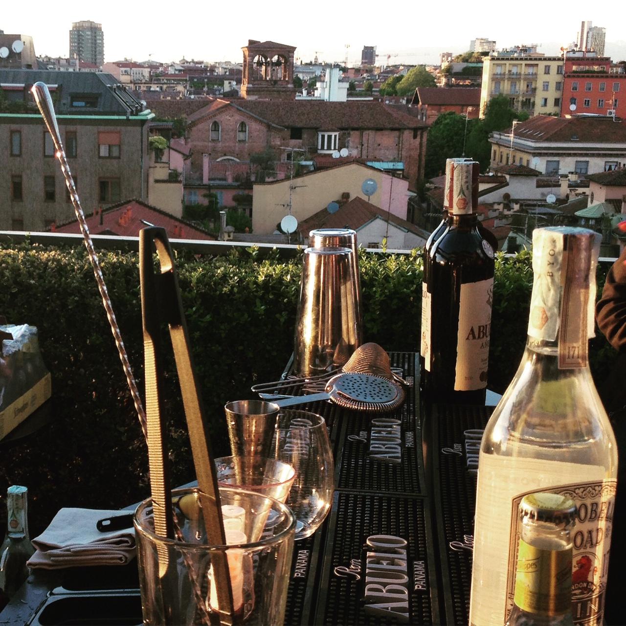 Aperitivo sulla terrazza dell'Hotel Milano Scala.