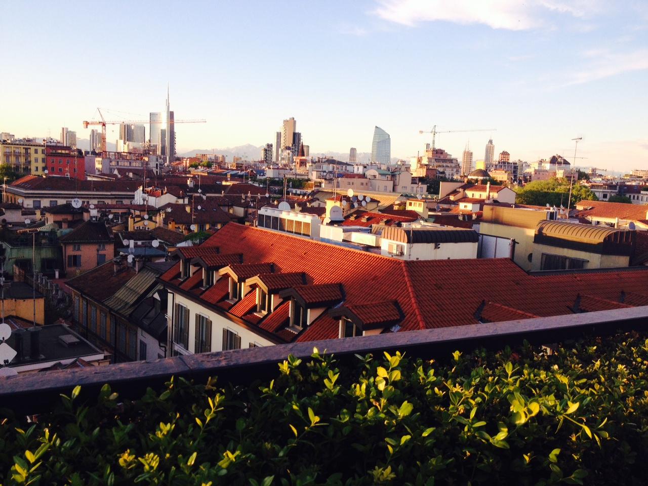 Il panorama di Milano dall'Hotel Milano Scala.