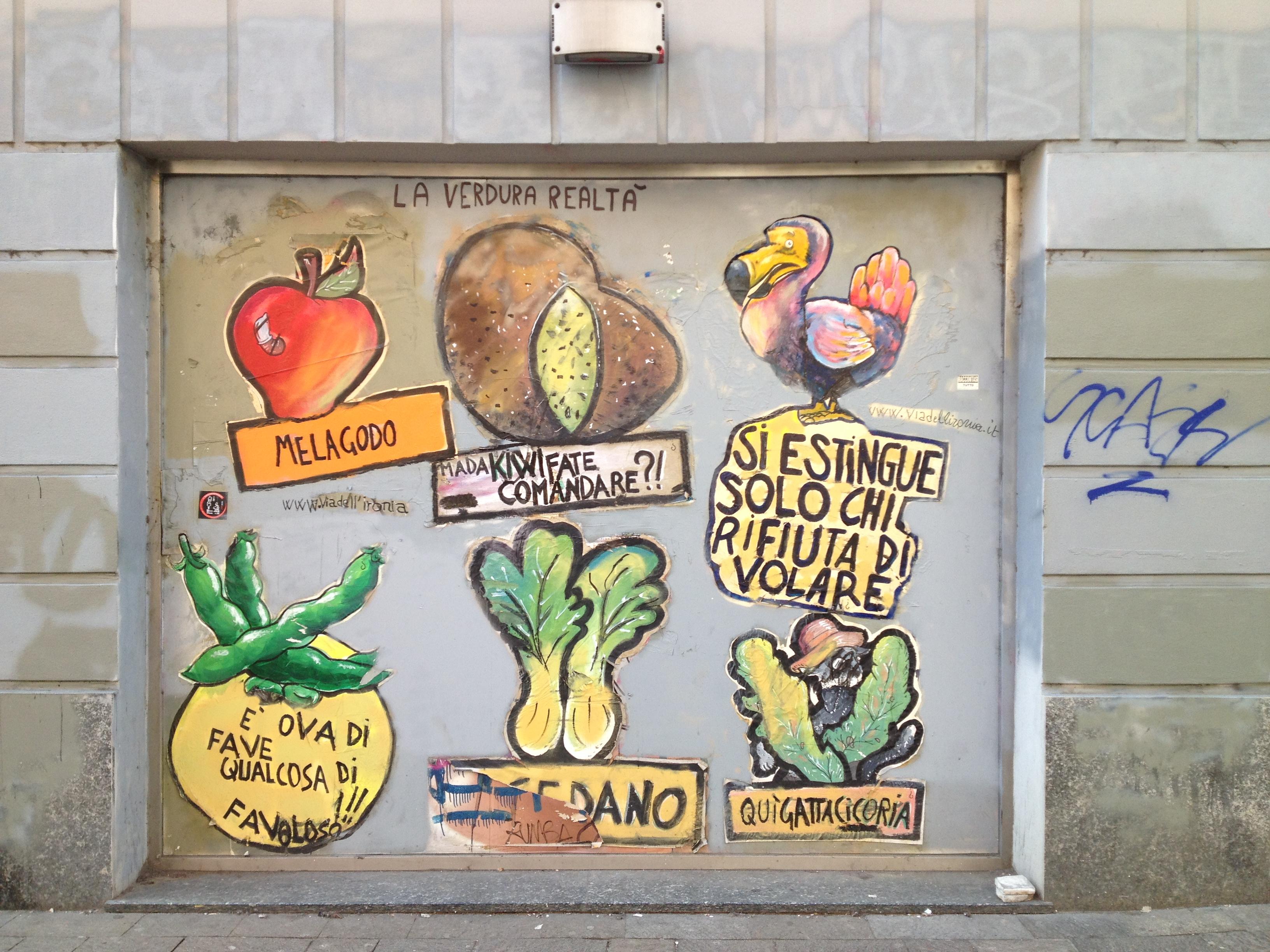 Street art 'vegetale' in Corso di Porta Ticinese @oltreilbalcone.