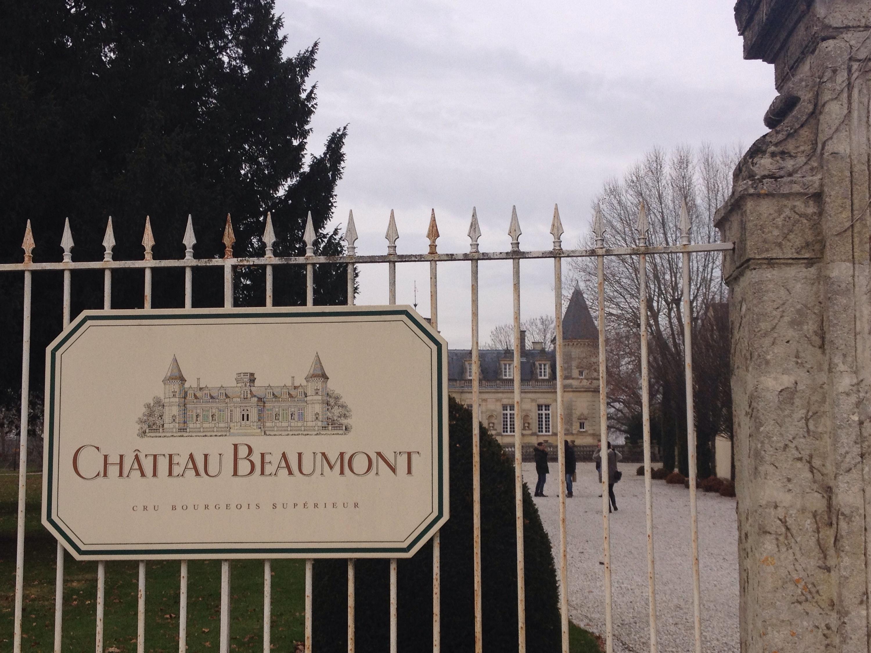 L'ingresso dello Château Beaumont.