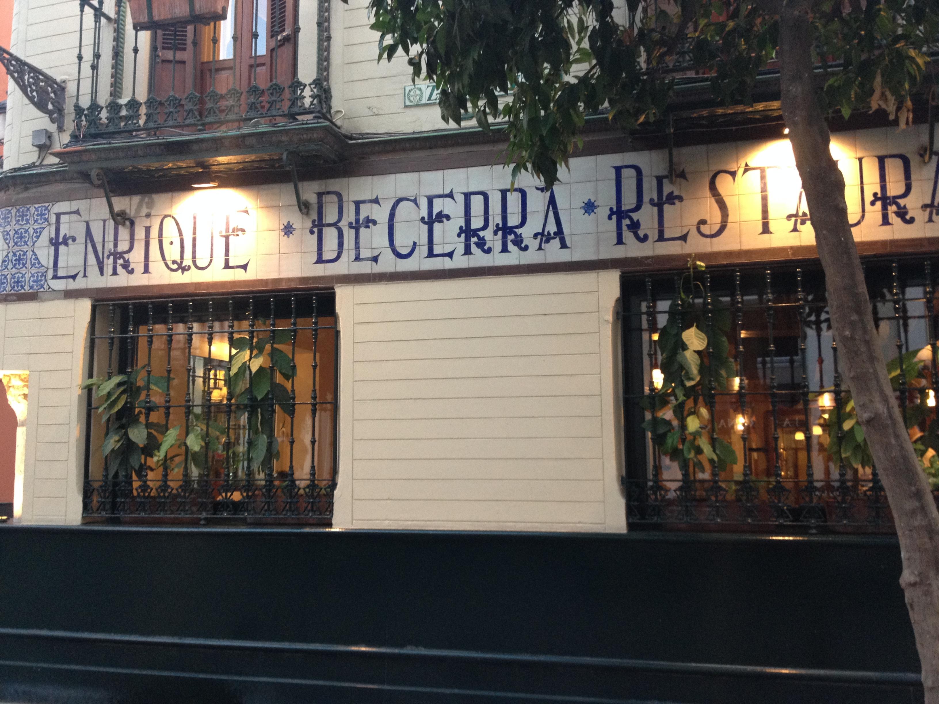 Ristorante Becerra, Siviglia @oltreilbalcone
