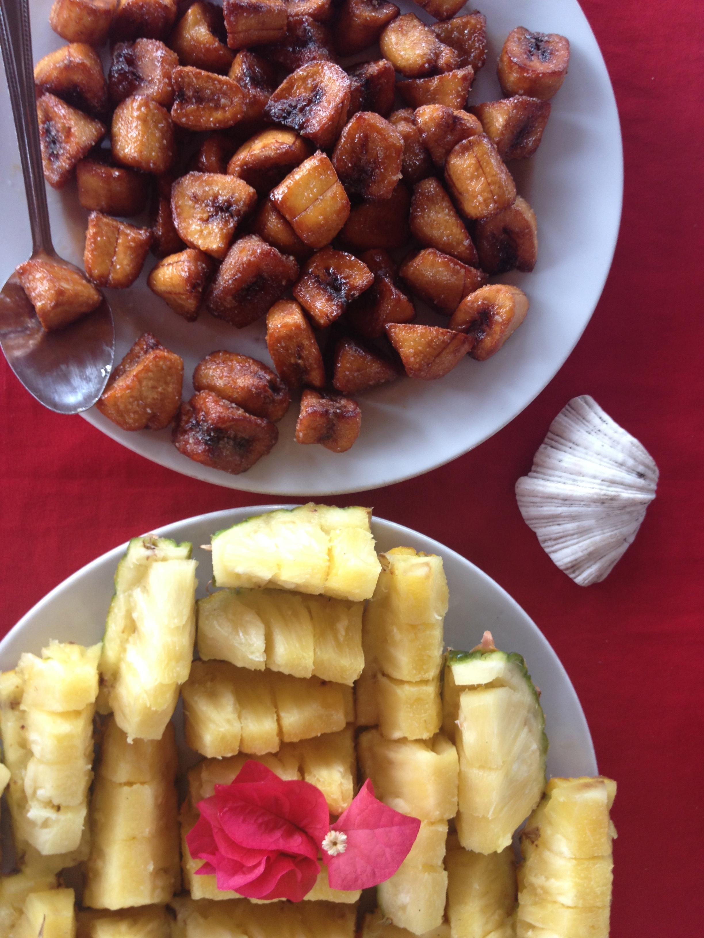 Banane fritte e ananas, Pamilacan @oltreilbalcone