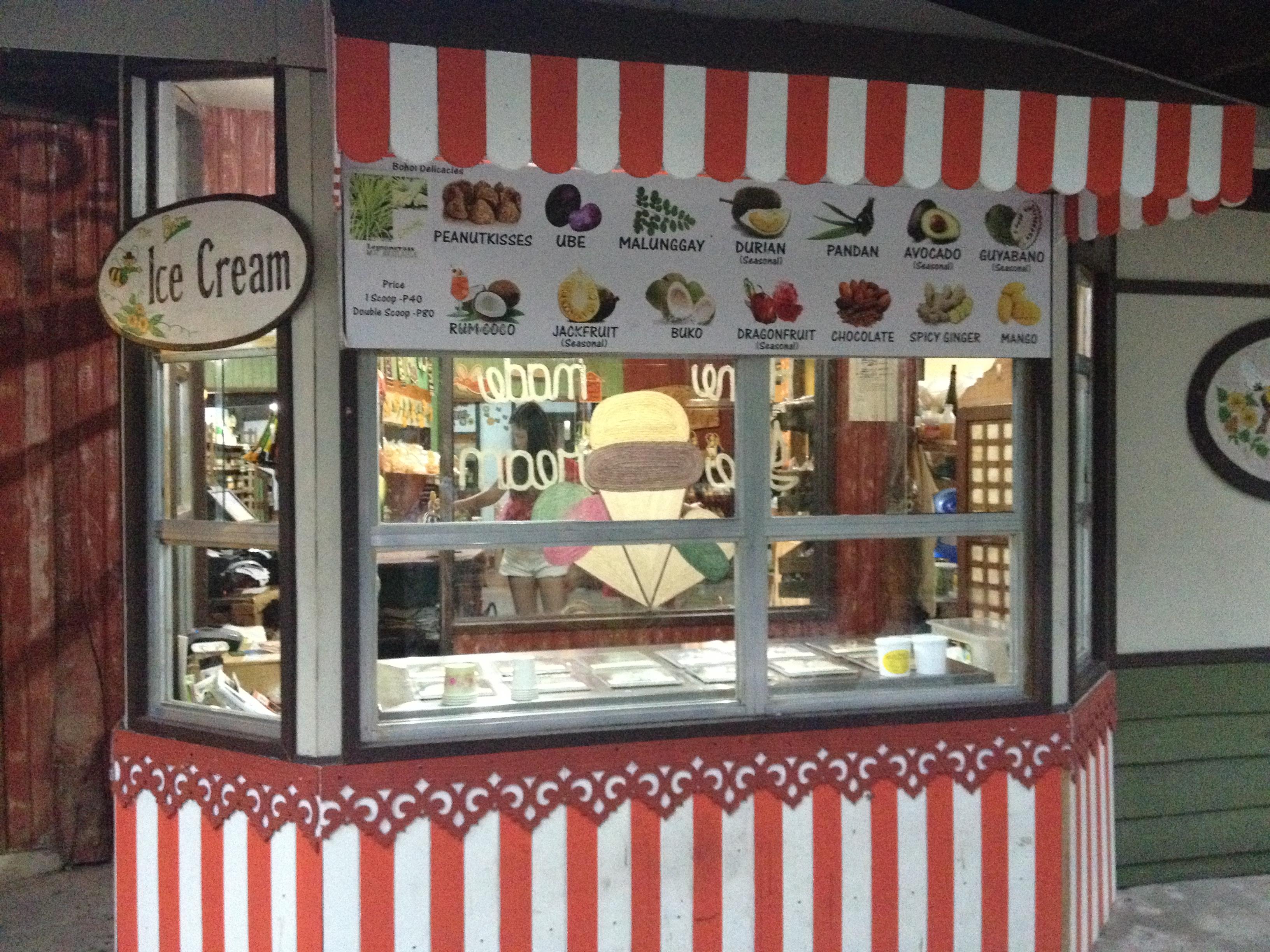 Ice Cream Bar, Bohol Bee Farm @oltreilbalcone