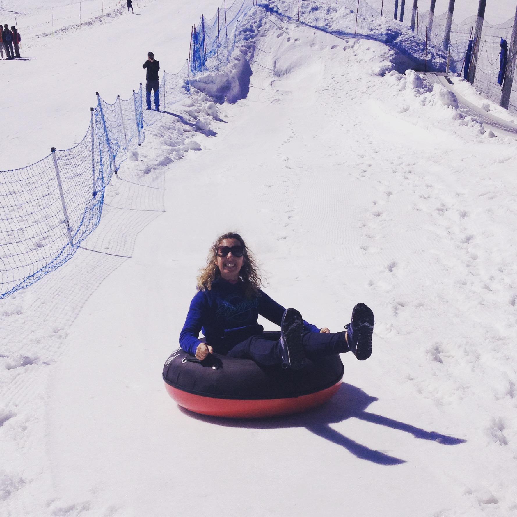 Snow tubing sul terhorn Glacier Paradise @oltreilbalcone