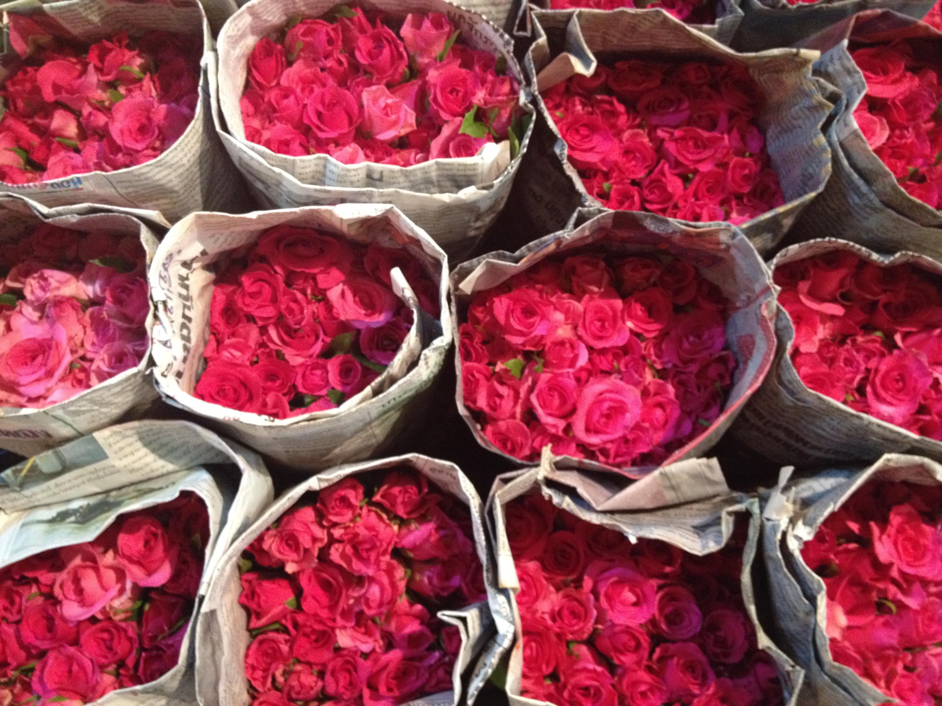 Rose al mercato dei fiori, Bangkok @oltreilbalcone